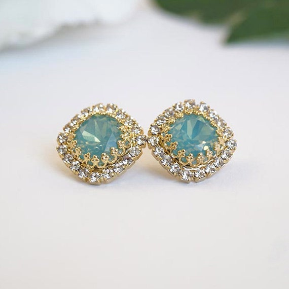 Items Similar To Opal Ring Exquisite Braided Opal: Items Similar To Mint Opal Jewelry, High Quality Seafoam