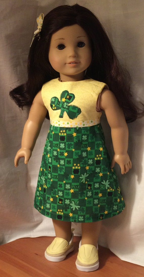 american girl doll clothes sale st patricks by martisoneofakind. Black Bedroom Furniture Sets. Home Design Ideas