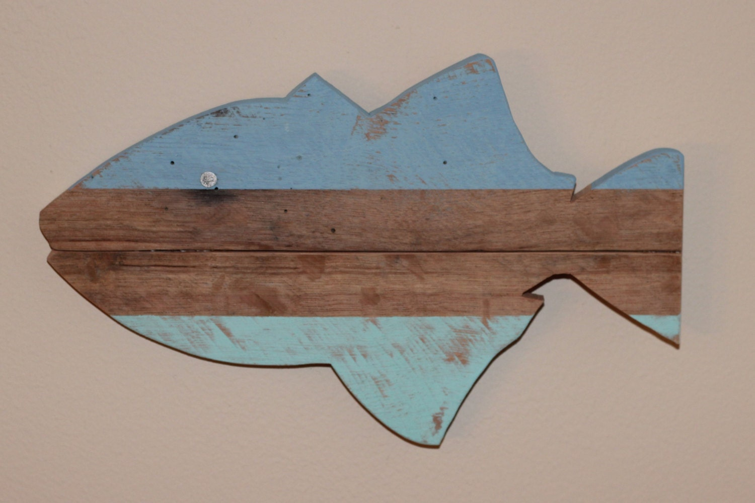 Fish Wall Decor Wood : Wooden fish wall art nautical striped pallet