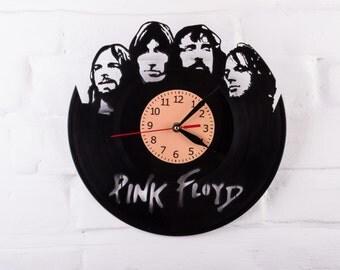 Vinyl Clock Pink Floyd wall clock gift