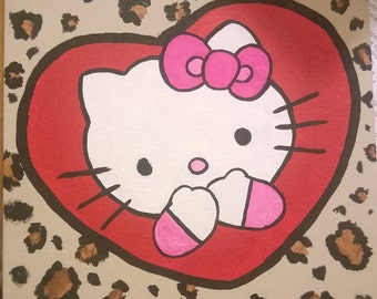 Hello Kitty Leopard Painting