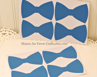 Chalkboard Labels. 10 Blue Bow Chalkboard Labels. Mason Jar Labels, Favor Box Sticker, Mason Jar Stickers, Wedding Favors, Party Favor  Tags
