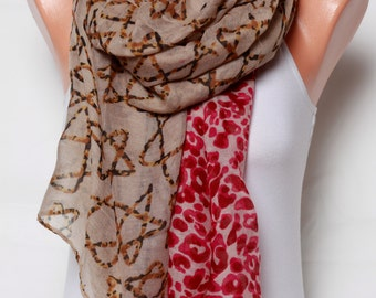 womens accessories Beach pareo Leopard Scarf mothers day Gift Ideas for women red Scarf Womens scarves Voile Scarf Fashion Scarf Shawl