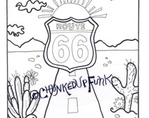 Route 66 Sign Coloring Page Coloring Pages Route 66 Coloring Pages
