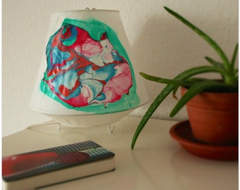 Table lamp-painted with nail polish