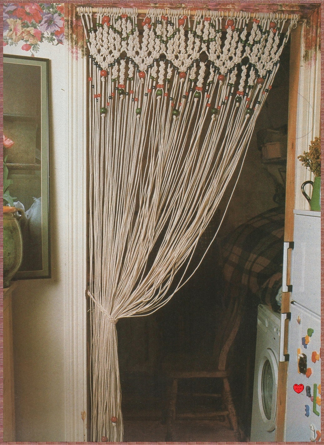 Vintage Macrame Pattern 1970s To Make A Decorative Room