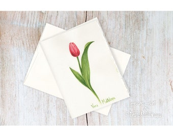 Hand painted folded card! One of a kind!!! Card ART by Vera Malitskaya. Tulip series