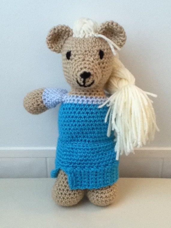 Amigurumi Crochet Frozen : Crochet Amigurumi Frozen Inspired Elsa Bear by ...
