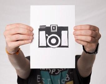 Lomo Diana F+ - Linocut - Print - Graphic Design