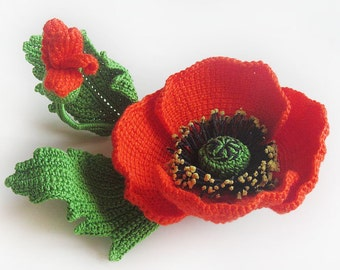 Poppy brooch.