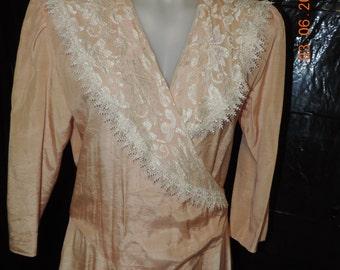 Vintage Peach Dress  size 9