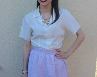 Striped skater skirt, 50's skirt, retro skirt, red and white stripe, summer skirt, Womens fashion, vintage inspired, clothing