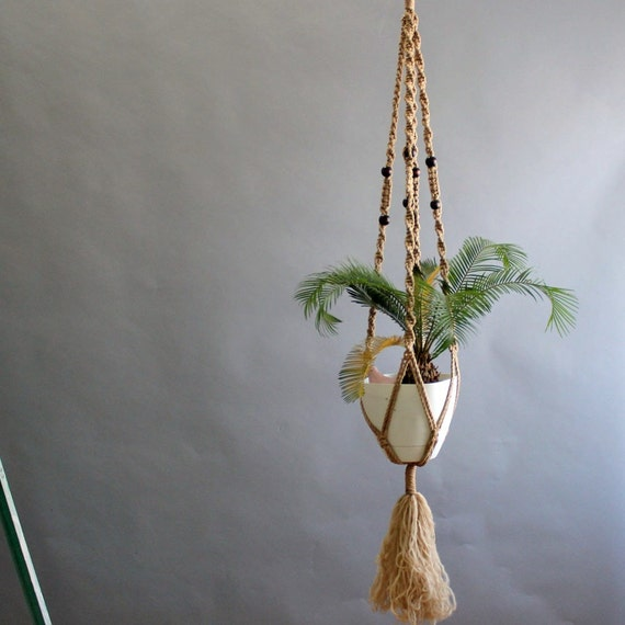 5 Ft Macrame Hanging Plant Holder Macrame Plant Holder