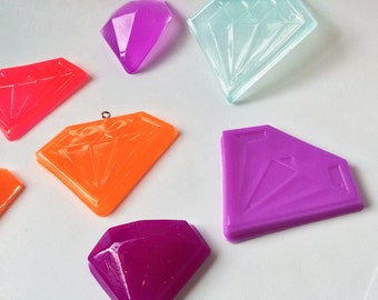 Set of 6 Faceted Jewel Ornaments