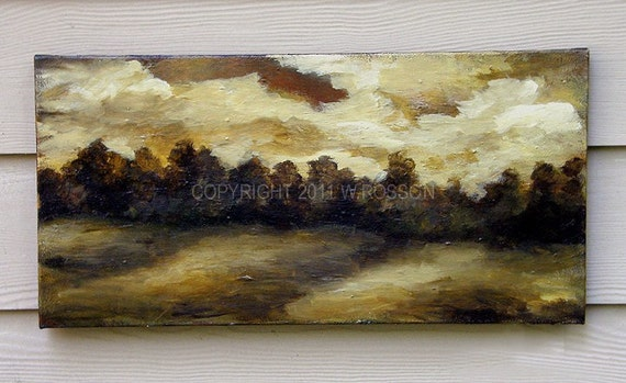STUDIO CLEARANCE SALE --- Buckskin Sky, Original Painting, Landscape Painting, Man Cave, Modern Rustic, Winjimir, Home Decor, Office,