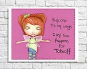 Little Girl Bedroom Decor Baby Girl Quote Print Pink Toddler Room Purple Nursery Wall Artwork Inspirational Gift Fairy Picture Tween Poster