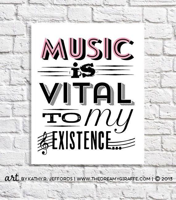 Music Art Print Gift For Musician Music Lover Music Teacher