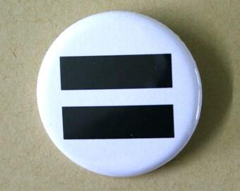 Equal Equality Pinback Button Badge
