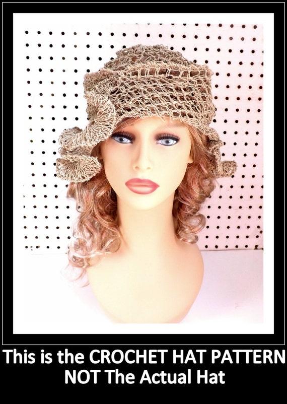 Crochet Pattern Hat,  Crochet Sun Hat Pattern for Women,  Crochet Hat Pattern,  Cloche Hat Pattern,  Cynthia Womens Hat Hemp