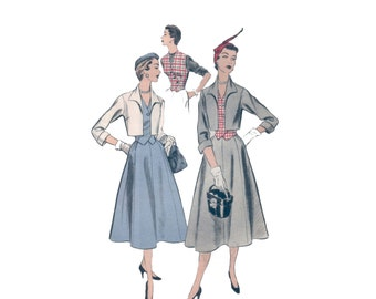 50s Full Skirt Pattern New Look pattern 34-28-37 Vintage Pattern bolero pattern Gored Skirt pattern advance 6644