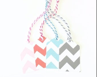 20 Small Chevron Print Hang Tags