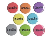 Name Magnets or Name Pinback Buttons - 1 inch or 2 1/4 Inch Personalized Magnet or Pin, Name Pin, Custom Magnet, Custom Pin, Pocket Mirror