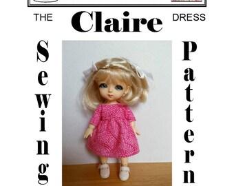 CLAIRE Dress Sewing Pattern for Latidoll's Lati Yellow (Renewal) BJD