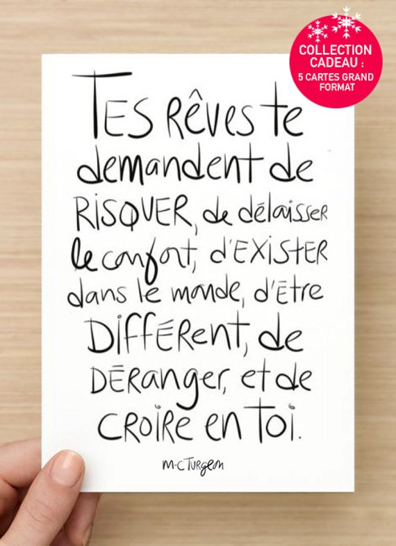 Collection Osez rêver : 5 Cartes postales assorties, grand format