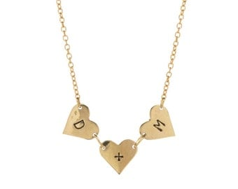 Heart Plus Bunting Necklace