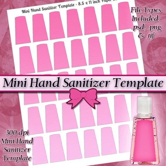 mini hand sanitizer label digital collage sheet by jeweledlizard. Black Bedroom Furniture Sets. Home Design Ideas