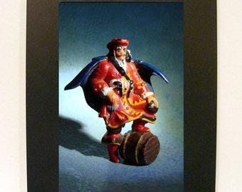 "Framed Captain Morgan Toy Photograph 5x7"" Rum Mascot"