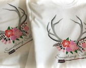 Something Sublime custom design t-shirt with antlers and arrow logo