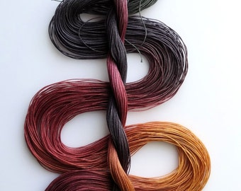 """Size 50 """"Knitty Gritty"""" hand dyed thread 6 cord cordonnet tatting crochet cotton"""