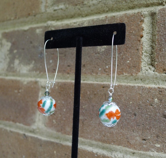 Vintage japanese koi fish bead earrings by glitterfoundjewelry for Koi fish beads