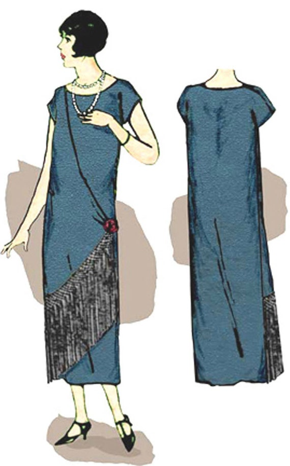 1920s Patterns – Vintage, Reproduction Sewing Patterns   1925 Fringe Front Dress Vintage Pattern 2 Sizes $25.00 AT vintagedancer.com