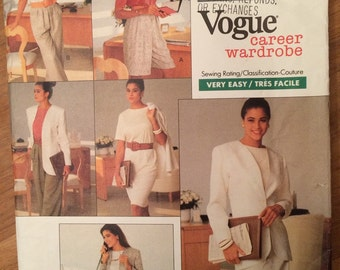 Vintage Vogue 2245 - Misses' Jacket, Dress, Top, Shorts and Pants - Career Wardrobe Pattern