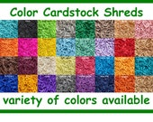 Cardstock Paper Shreds Shredded Color Card Stock Decorative Basket Grass Gift Bag Present Box Pinata Filler ~ 33 Colors ~ Free Shipping