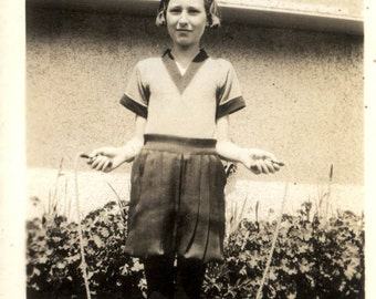 vintage photo Jean Jumps Rope in her Gym Outfit 1934