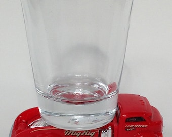 the Original Hot Shot shot glass, Mig Rig, Racing Truck, HW City Hot Wheel Car