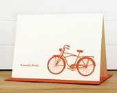 Personalized Stationery Set / Personalized Stationary Set - BICYCLE Custom Personalized Notecard Set - Masculine Fun Silhouette
