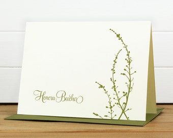 Custom Stationery / Custom Stationary - VINE Custom Note Card Set - Floral Pretty