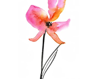 Soft Bloom ... Floral art archival print from original painting by Kathy Morton Stanion EBSQ