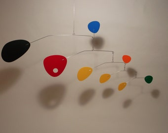 Modern Art Mobile Modernist hanging Small Kinetic Sculpture by Julie Frith Home Decor All Made