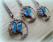 Blue Moon Necklace-Tree of Life-Azul
