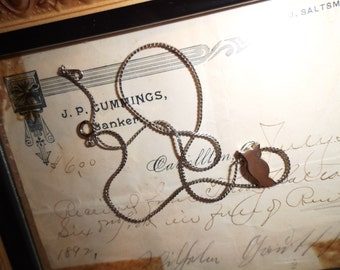 Vintage Silver Owl Necklace