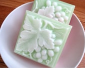 Grape Leaf . Shea Butter and Glycerin Soap with fragrance of Guava Fig.