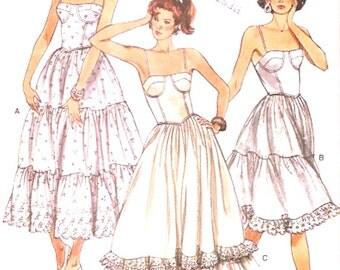 Camisole tops petticoats Rockabilly style wedding Lingerie Romantic Vintage sewing pattern Vogue 9955 Sz 12 to 16 UNCUT