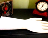 Vintage Industrial Object Glove Mold Porcelain Bisque Unglazed Hall China Co