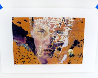Face Peel Woman Art Collage Surreal Original Assemblage