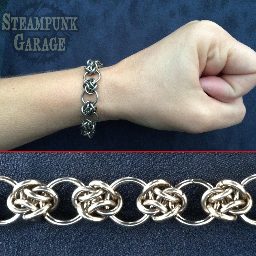 bracelet steel cloud cover circles celtic knots. Black Bedroom Furniture Sets. Home Design Ideas